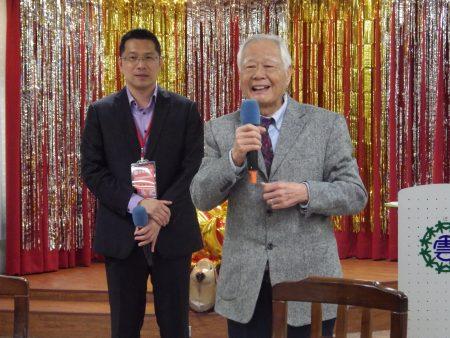 前监委黄镇岳也出席并致词祝贺大家要老的健康!
