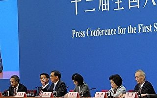 3月19日,韓正(左二)、孫春蘭(右二)、胡春華(左一)和劉鶴(右一)出任中共副總理。 (Lintao Zhang/Getty Images)