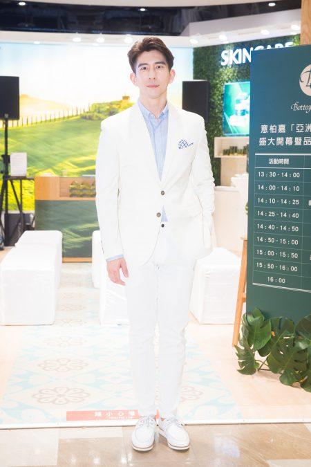 艺人修杰楷3月28日在台北出席保养品活动。