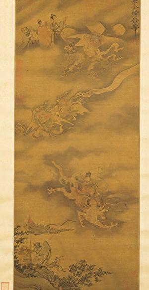 宋 李公麟《為霖圖》,台北國立故宮博物院藏。(公有領域)
