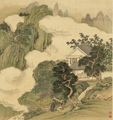 """刘景曾说:""""我没有跟着彭玕反叛,保全了上万人的命,我的后代子孙一定会兴隆昌盛。""""因此,他把居住的山命名为后隆山。图为清 徐天序《山水画.读书》,台北国立故宫博物院藏。(公有领域)"""
