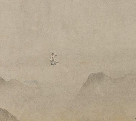 (传)明唐寅《草堂梦仙图卷》(局部),佛利尔美术馆藏。(公有领域)
