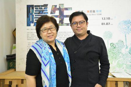 「b. LAB 基礎實驗」藝文餐飲複合空間執行長蔡淑敏與策展人覃桂茂。