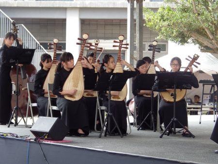 多功能藝廊啟用典禮, 國樂班的演奏。