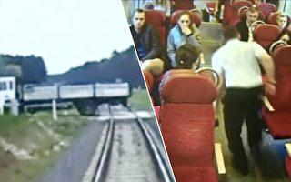 眼看就要撞卡车 这名火车司机的作法感动全社会