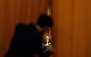 習近平連任國家主席及軍委主席,其緊密盟友王岐山任國家副主席。(FRED DUFOUR/AFP/Getty Images)