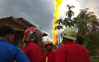 印尼亞齊油井沖天大火 至少15死40傷