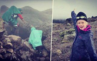 美国7岁女孩登上非洲屋脊 希望接近云端的爹地