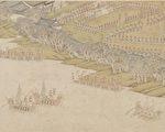 明吴彬《岁华纪胜图册.阅操》台北国立故宫博物院藏。(公有领域)