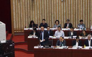 代理陳菊上議會備詢 許立明坦言「有壓力」