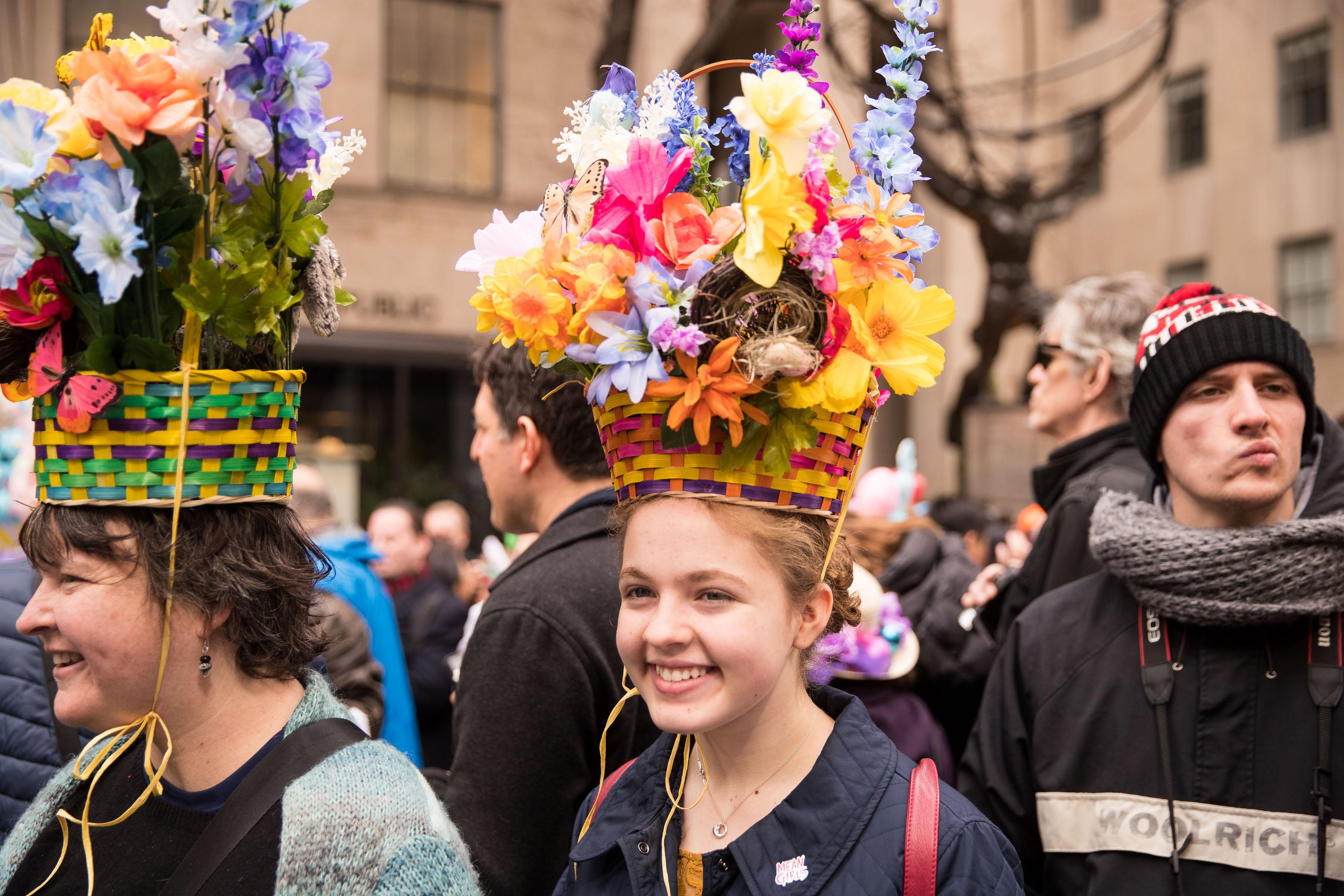 紐約歡度復活節 帽子爭豔第五大道