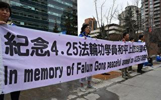 紀念4.25和平反迫害19週年 卡城民眾支持