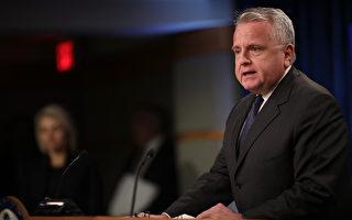 代理国务卿沙利文(John Sullivan)代表国务院发布全球人权报告。(Win McNamee/Getty Images)