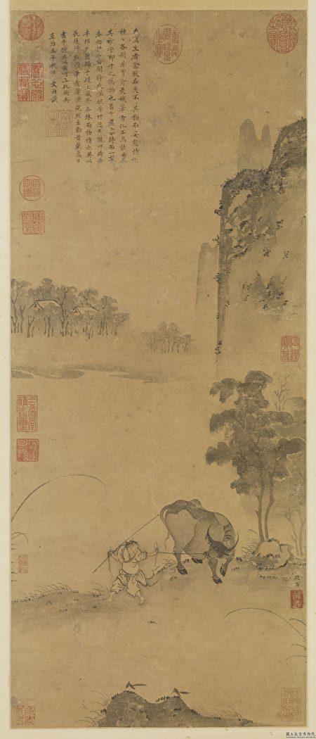 图为宋 祁序《长堤归牧图》,台北国立故宫博物院藏。(公有领域)