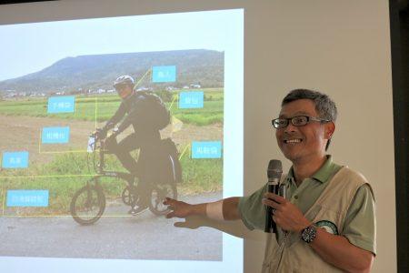 """""""鸟人""""林昆海,发起了""""Birdy for Wetlands:为湿地而骑.鸟人真爱台湾行""""计划,利用一个月的时间骑单车环岛,实地踏查全台沿海近六十处湿地。(邓玫玲/大纪元)"""