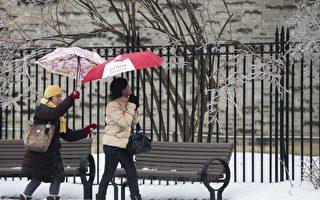异常天气警告 冰雨暴雨双临多伦多