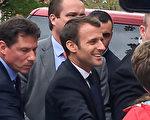 法国总统马克龙在乔治·华盛顿大学(图片:马春梅提供)
