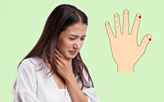 喉嚨痛好難受!指尖2穴位速救 還能退高燒