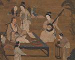 宋 李嵩《听阮图》,台北国立故宫博物院藏。(公有领域)
