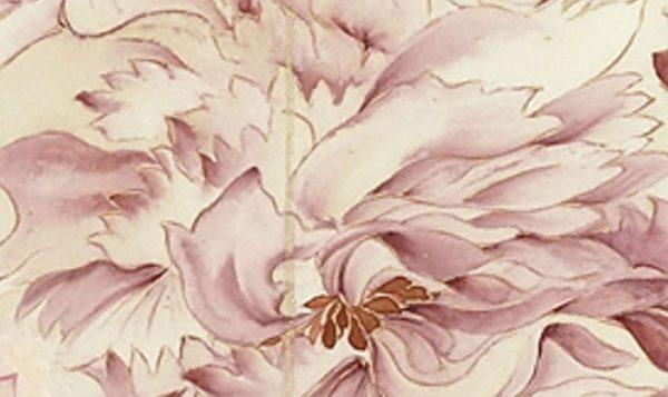 清恽寿平《牡丹》,水和色自然交融。(公有领域)