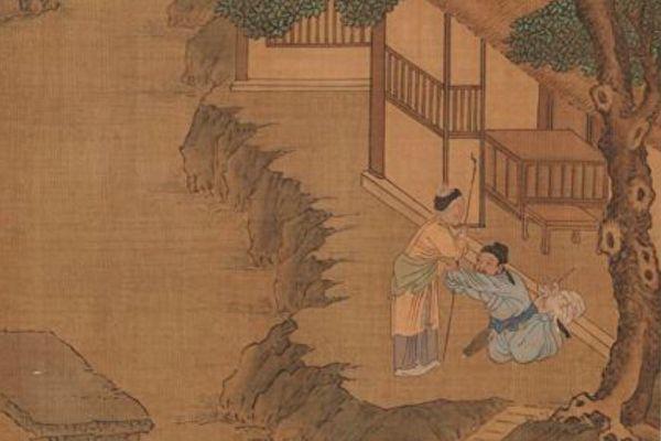 圖為明仇英畫《二十四孝冊.朱壽昌棄官尋母》,台北國立故宮博物院藏。(公有領域)