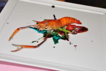 五彩繽紛的料理,猶如一幅畫、創意十足。