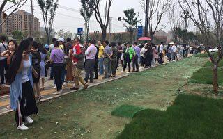 安徽数百教师市政府前讨薪 遭暴力抓捕