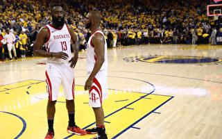 NBA西部决赛 火箭逆转勇士 战成2比2平