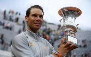 納達爾逆轉獲勝 奪羅馬大師賽第八冠