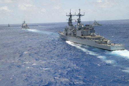 """美国五角大厦发表声明表示,鉴于中共在南海""""持续军事化""""造成局势不稳,已撤回邀请,拒绝让中共参加将于下月举行的环太平洋军演(RIMPAC)。"""