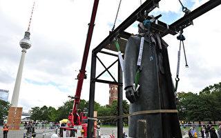 中共贈德國馬克思雕像 揭幕5天即遭縱火