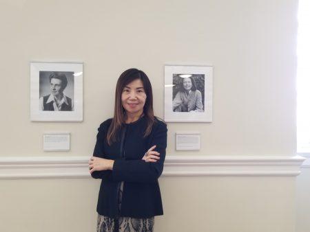"""哥大华人校友马天惠号召校友募款资助哥伦比亚大学商学院尤金.兰创业中心于26日在巴纳德学院举办""""妇女创业家领导讨论会""""。"""