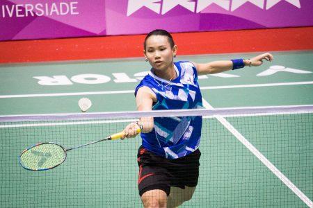 戴资颖三战两胜力退世界排名20的香港一姊张雁宜。