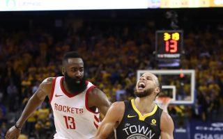 NBA火箭3分险胜勇士 西区冠军赛扳平