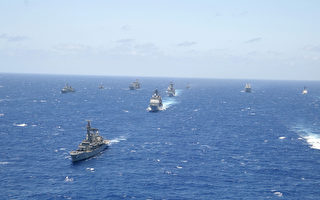 2002年的环太平洋军演场面。(Mislinski/Getty Images)