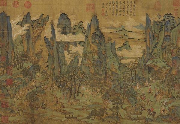 唐朝發生由安祿山與史思明發動的「安史之亂」,唐朝因此由盛而衰。圖為唐人《明皇幸蜀圖》,台北國立故宮博物院藏。(公有領域)