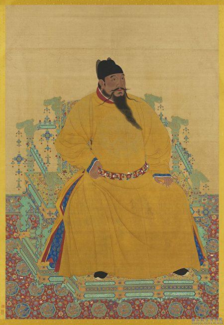 圖為明成祖坐像。台北國立故宮博物院藏。(公有領域)
