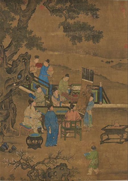 南宋教育家李燔,在白鹿洞书院讲学,听者云集如潮。图为《宋人博古图》,台北国立故宫博物院藏。(公有领域)