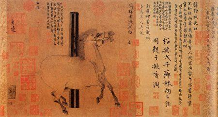 成語「蛛絲馬跡」與駿馬有關嗎?圖為唐 韓幹《照夜白圖》。(公有領域)
