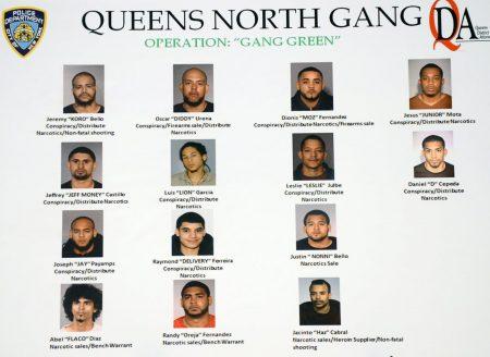 警方在皇后區逮捕了15名多明尼加裔的「TRINITARIOS」組織分子。