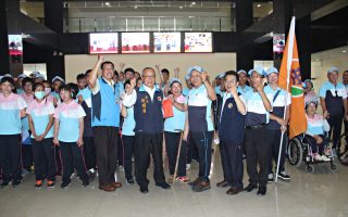 全国身心障碍运动会 苗县代表队授旗出发