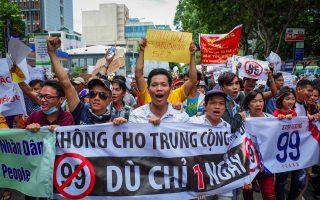 越南反中资抗议波及台商 经部盼更新投保协定