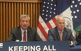 市長白思豪稱得到了州兩院立法者的支持,但是州長庫默以及共和黨州長候選人均對此表示反對。(王新一/大紀元)