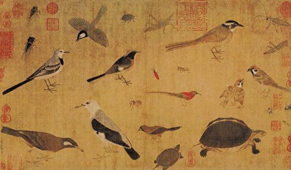五代 黄筌《写生珍禽图》(公有领域)