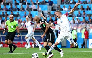 梅西罰失點球 阿根廷艱難1比1逼平冰島