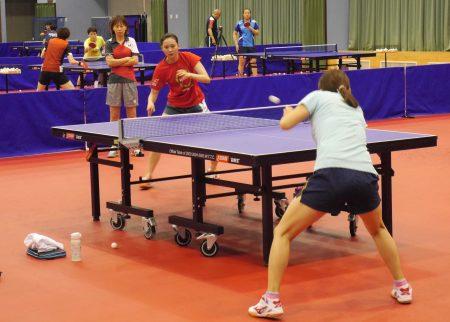 桌球選手亞運備戰。