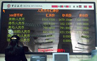 """人民币连跌五日 中共央行""""维稳""""释两信号"""