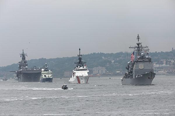 台湾渔民直击 中共导弹护卫舰穿越海峡中线