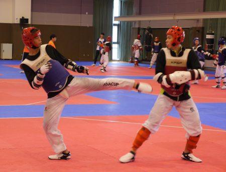 跆拳道選手亞運備戰。