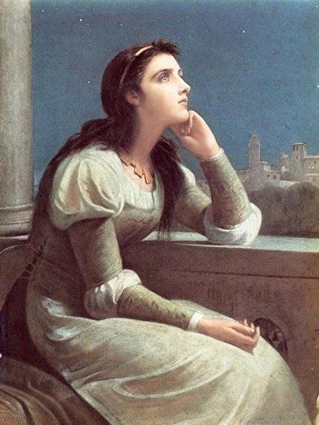 英国画家菲利普•赫莫杰尼斯•卡尔德隆(1833-1898)所绘的朱丽叶(公有领域)